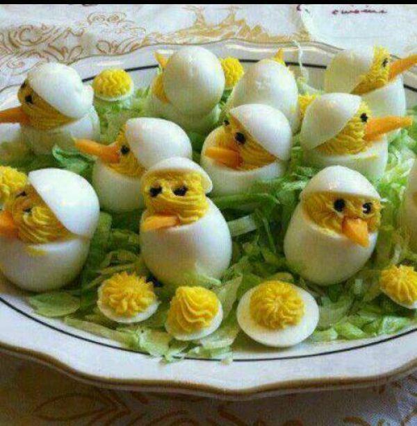 Gef llte eier mal anders rezept mit bild - Eier dekorieren ...